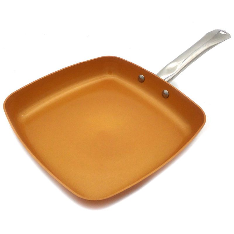 Top-Non-Stick Copper Frying Pan With Ceramic Coating And Induction Cooking,Oven And Dishwasher