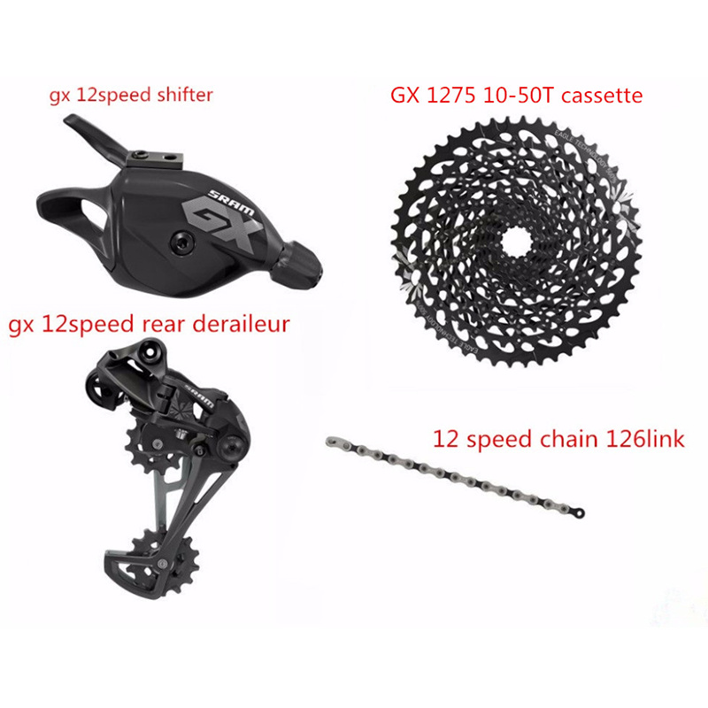 Sram GX EAGLE 12 Speed 4Pcs GX Shifter Rear Deraileur 126 Links Chain 10-50T Cassette NX 1230 11-50T Sunrace 11-50T Cassette