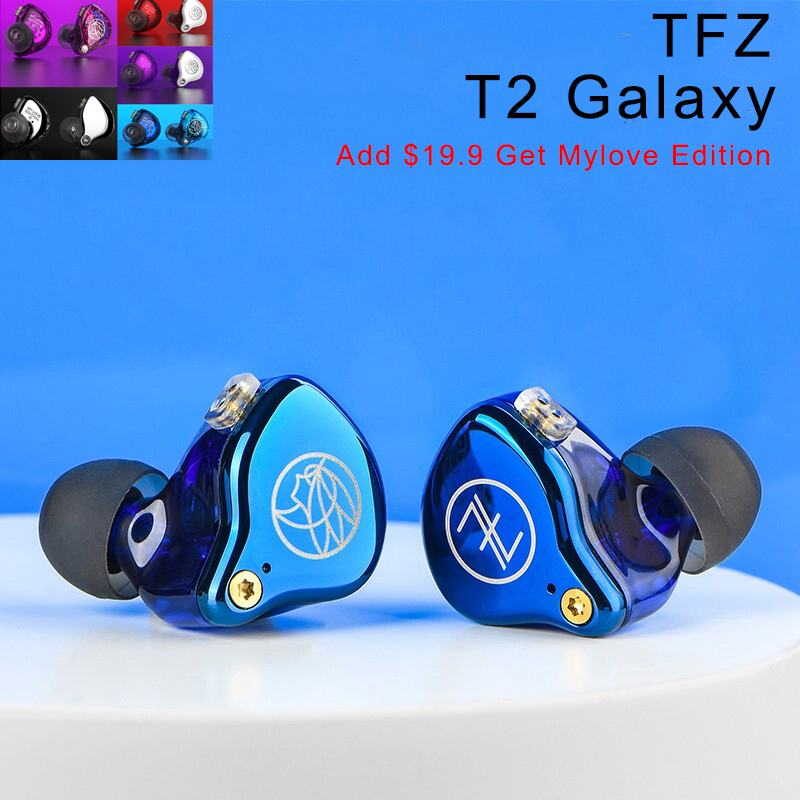 TFZ T2 Galaxy In Ear Monitor Earphones Noise Isolating Hifi Stereo Earphone Metal Wired Earbuds <font><b>2pin</b></font> <font><b>0.78</b></font> Detachable <font><b>Cable</b></font> image