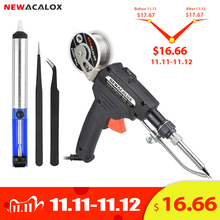 NEWACALOX soldador manual con pistola de estaño y herramienta de pistola