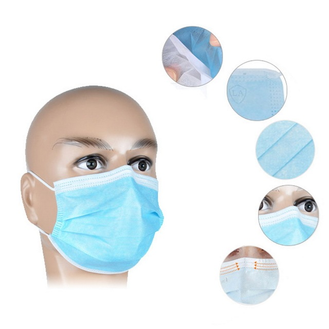 In stock Disposable Masks 30/50 pcs Mouth Mask 3-Ply Anti-Dust  Nonwoven Elastic Earloop Salon Mouth Face Masks 1