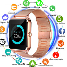 цена на 2019 Smart Watch Z60 GT09 Men Women Bluetooth Wrist Smartwatch Support SIM/TF Card Wristwatch For Apple Android Phone PK DZ09