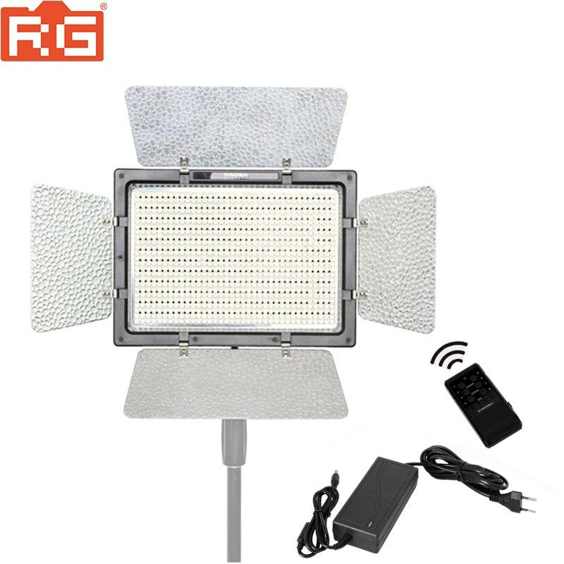 Светодиодный светильник YONGNUO YN900 High CRI 95 +, беспроводной светильник 3200K-5500K, панель, лампа 900 Beans 7200LM 54 Вт + адаптер питания переменного тока