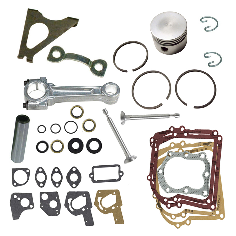 5hp Engines Overhaul Kit Gasket Set Standard Piston Ring Connecting Rod Gaskets Seals Valves Fit For B&S Briggs And Stratton