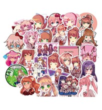 50 Uds pegatinas de Anime chica Linda Rosa impermeable coche pegatina para patineta Pack Laptop Racing maleta caso Scrapbook Stikers para chico(China)