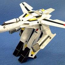 Самолет Robotech Скелет № 1th истребитель 3D бумажная модель DIY игрушка