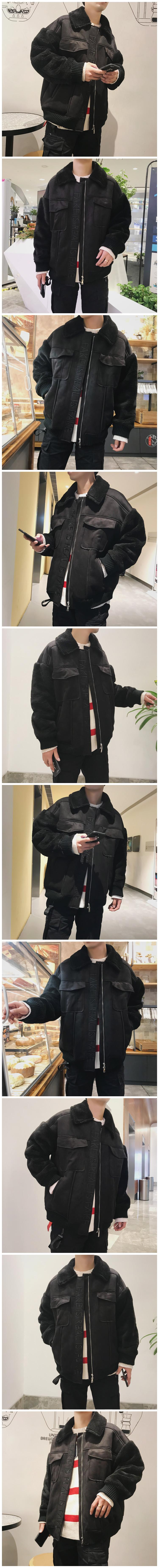 New man thickening cotton-padded jacket