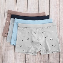 4PC Boxer Men Sexy Underwear Letter Printed cotton Soft Breathable Knickers Short plus size Cotton cueca masculina new