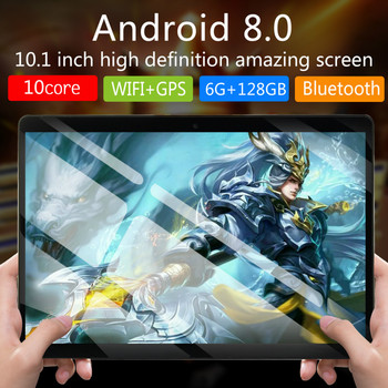 New 6G+128GB 10 inch tablet PC 4G Android 8.0 10 Core Super tablets Ram 6GB Rom128GB WiFi GPS 10.1 tablet IPS  Dual SIM GPS