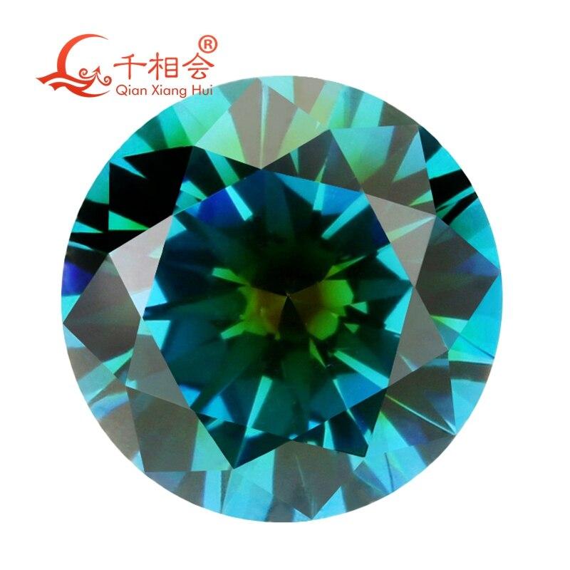 TZ002 forma redonda de zirconia cúbica color especial una vez que de aqua azul y verde color piedra suelta de cz