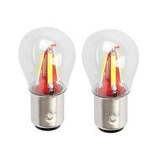 2 шт. 4 нити супер яркий светодиодный 1157 BAY15D P21W/5 Вт автомобильный тормоз светильник лампа авто автомобиль лампа желтый/красный/белый аксессуары для автомобиля 12V