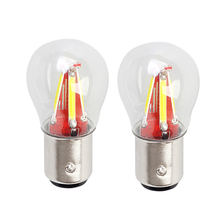 2pcs 4 Filament Super Bright Led 1157 BAY15D P21W/5W Car Brake Light Bulb Auto Vehicle Lamp Yellow/red/white Accessories 12V