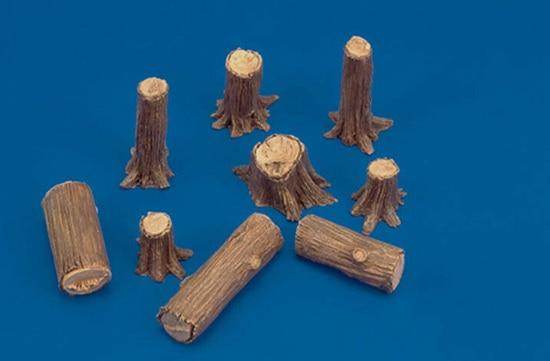 1/35   Modern  Tree Trunks  Resin Figure Model Kits Miniature Gk Unassembly Unpainted