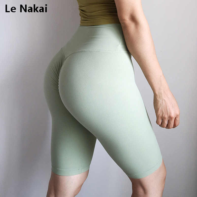 Hoge Taille Energie Biker Shorts Scrunch Leggings Push Up Yoga Shorts Athletic Gym Fietsen Shorts Workout Panty Compressie Korte