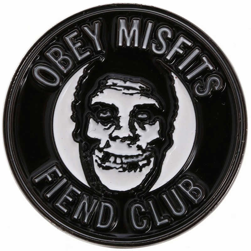 Mematuhi X Aneh Iblis Klub Pin Hitam Putaran Badge