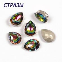 CTPA3bI 4320 Drop Shape Crystal Vitrail Medium Color Glass Rhinestones Beads For Jewelry Making Charm Stone Accessories