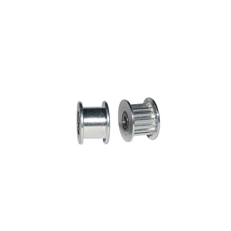 2gt 20 dentes síncrona da roda idler polia preta furo 3mm 4mm 5mm com rolamento para o temporizador gt2 largura da correia 10mm 20 dentes 20 t