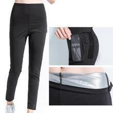 Неопреновые штаны для сауны для женщин, для йоги, для потери веса, термо-Шейперы, горячий пот, шейпер для тела, штаны для сжигания жира, Капри для тренировок