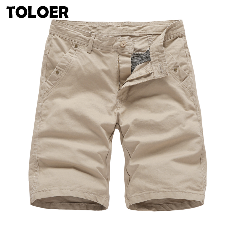 2020 Brand New Mens Cargo Shorts High Quality Black Military Short Pants Men Cotton Solid Casual Beach Shorts Men Summer Bottom