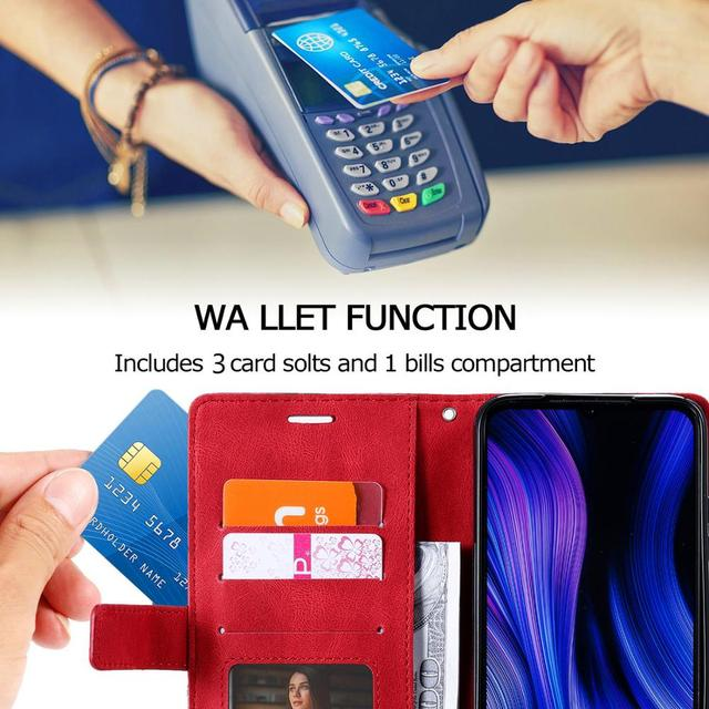 Leather Flip S7 S8 S9 Plus S10 S20 FE S21 Ultra Case For Samsung Galaxy A6 A7 A8 J6 2018 A5 J3 J5 J7 2017 Note 8 9 Wallet Cover 4