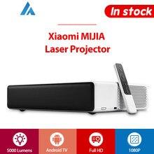 Xiaomi Mi lazer projektör Full HD 1080P telefon Android TV WIFI bluetooth ALPD 3.0 5000 lümen 2GB 16GB Prejector İngilizce sürüm
