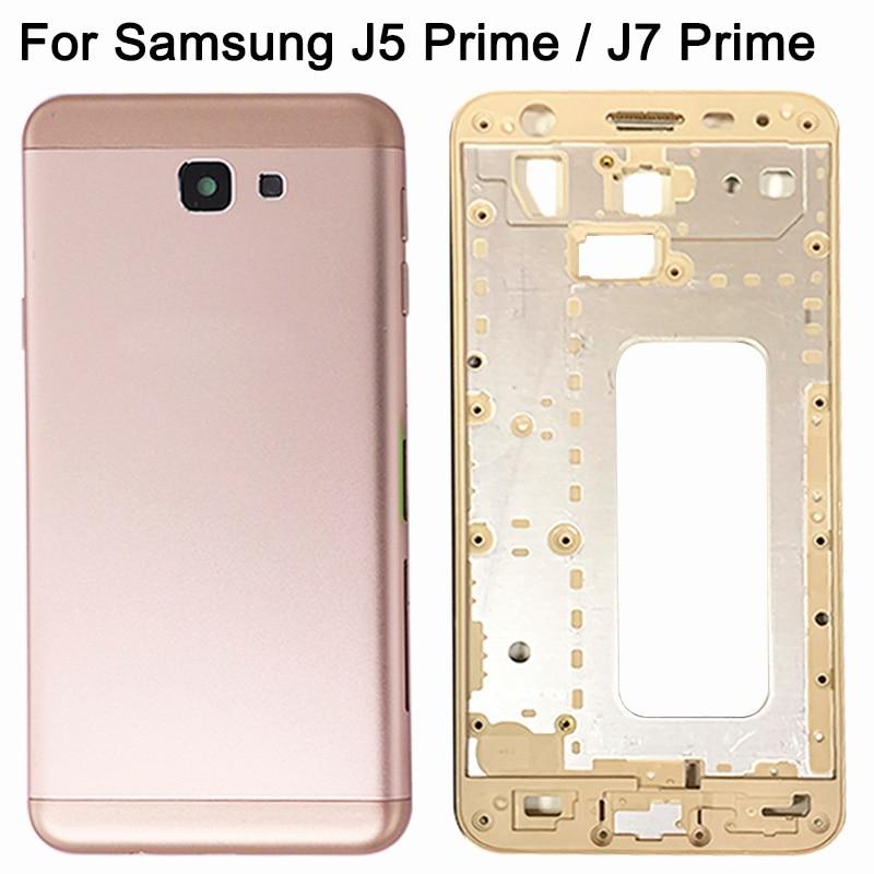 New J5 Prime / J7 Prime Battery Cover For Samsung Galaxy J5 Prime / J7 Prime Full Housing Mid Bezel Back Door+Middle Frame