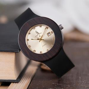 Image 2 - BOBO BIRD Men and Women Wood Watches with Genuine Leather Strap Calendar Display Watch Role Men Relogio Masculino DROP SHIPPING
