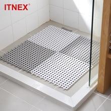 2/4 pcs Non-slip Bath Mats Bathroom Square PVC Bathmats Home Kitchen Floor For Toilet Carpet Shower Mat Rug