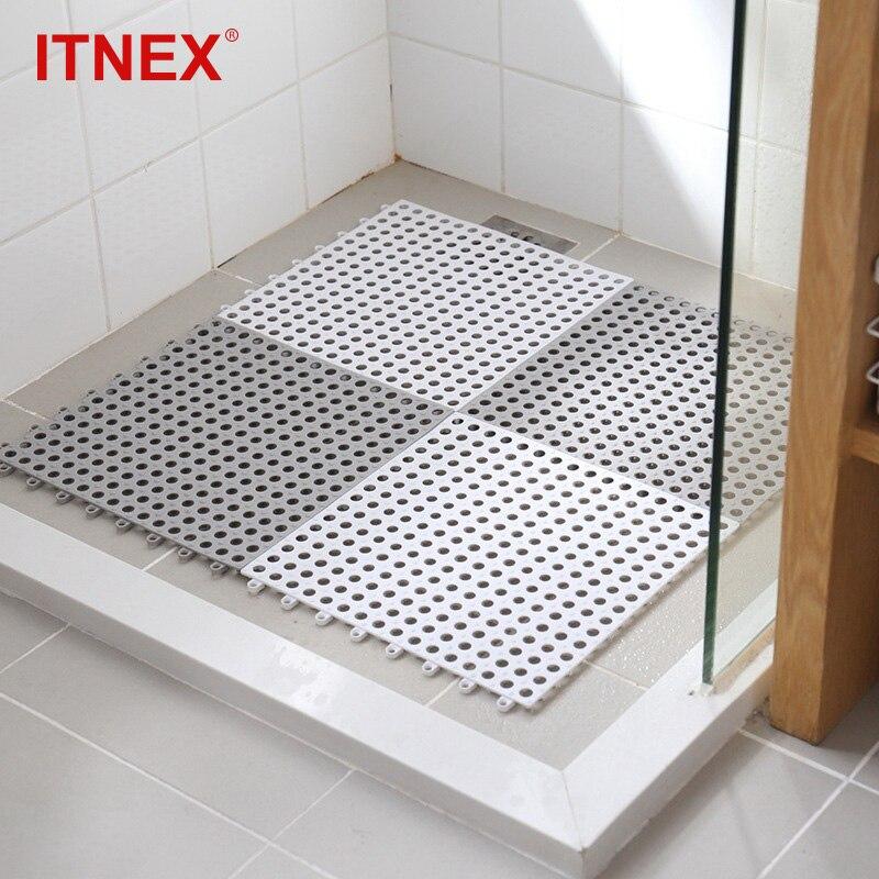 2/4 pcs Non-slip Bath Mats Bathroom Square PVC Bathmats Home Kitchen Floor Mats For Toilet Bathroom Carpet Shower Mat Bath Rug