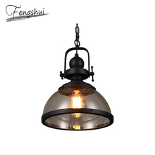 Industrial Glass LED Pendant Lights Lighting Vintage Pendant Lamp Bar Bedroom Dining Living Room Cafe Hanging Lamp Light Fixture стоимость