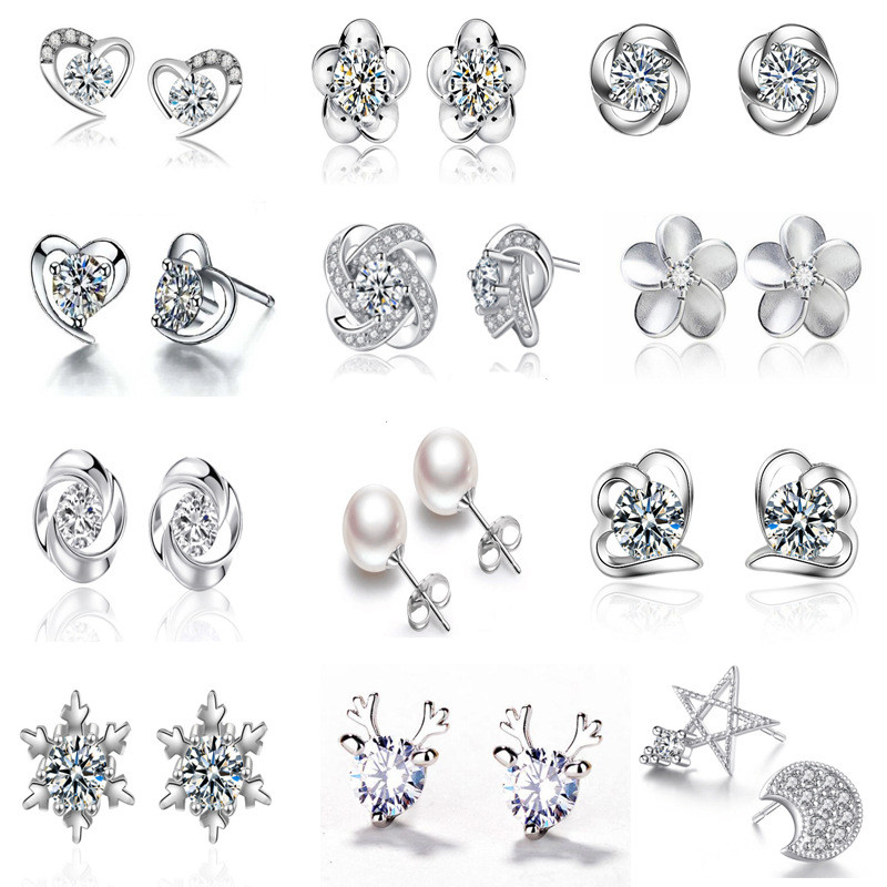 Send In 24 Hours!! Top Sale Zircon Brincos Women Long Silver Color Drop Earings Jewelry Pendientes Wedding Jewelry Accessories