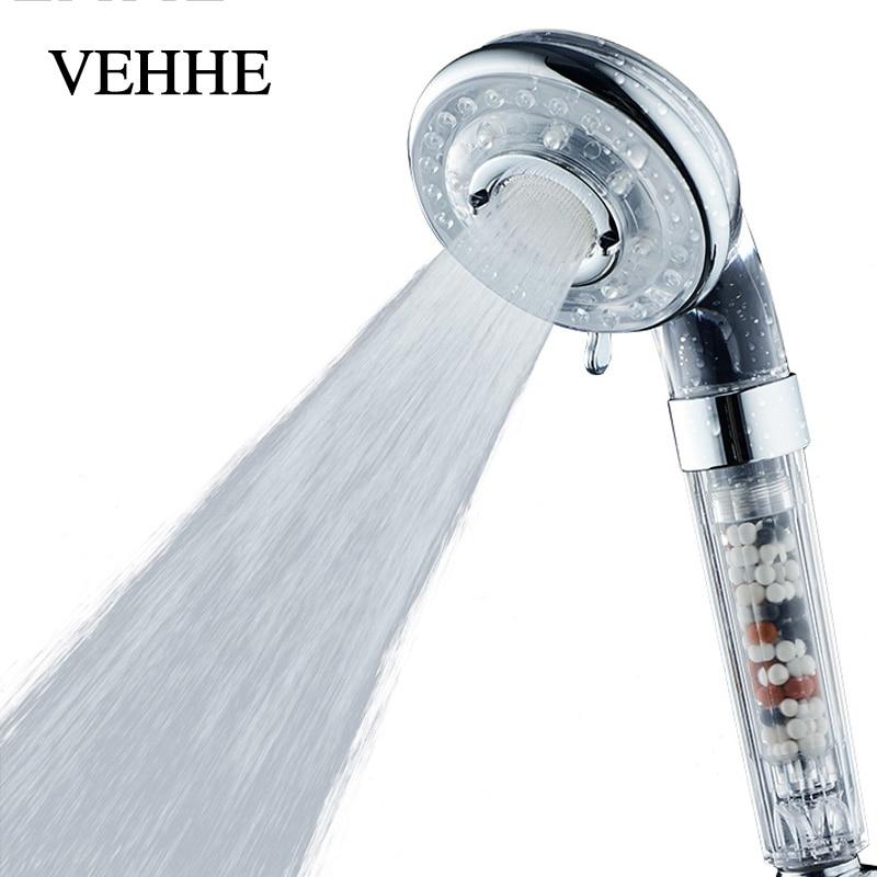VEHHE High Quality SPA Water Saving Showerheads 4 Gear ABS High Pressure Shower Filter New Design Bathroom Shower Head VE200