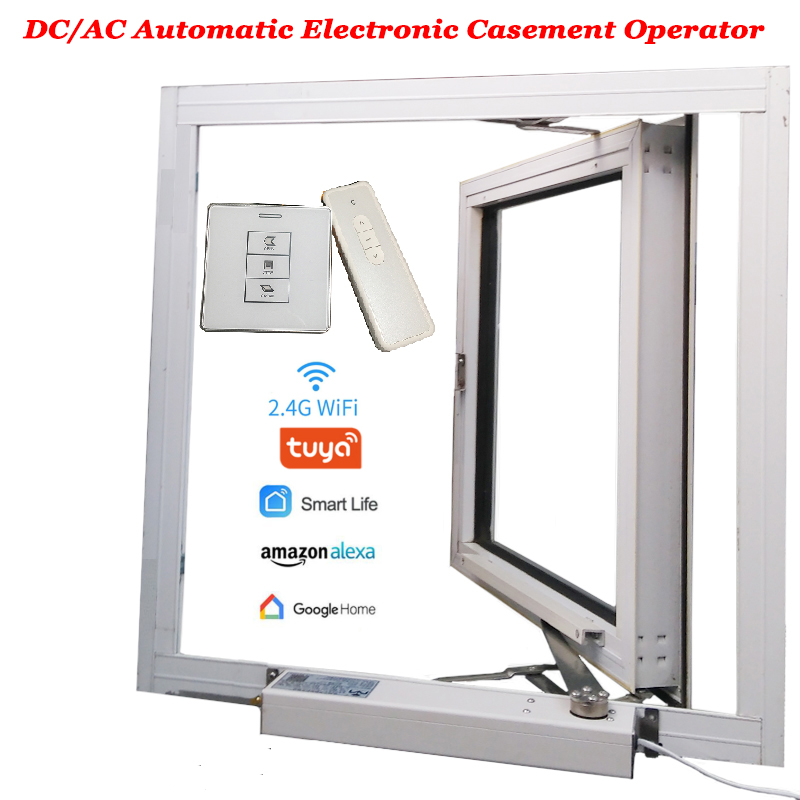 Casement Actuator Window Opener Electric Motor Automatic Close/open Skylight/Greenhouse Window Operator Wifi Tuya Alexa Google