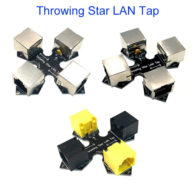 Throwing Star LAN Tap New Shield / LED Shield Data Analysis  Network Packet Capture Original Replica Monitoring Ethernet Tap