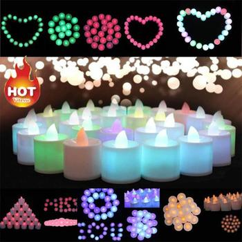 50pcs LED Candle Lamp Electronic Candle Lamp Electronic Glow Candle Romantic Proposal Birthday Wedding Christmas New Year Decor trinity candle factory white christmas pillar candle 4x9