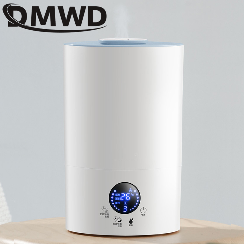 DMWD Electric Ultrasonic Humidifier 4L Aromatherapy Essential Oil Diffuser Atomizer Cool Mist Maker Air Purifier Fogger EU plug|Humidifiers| |  - title=
