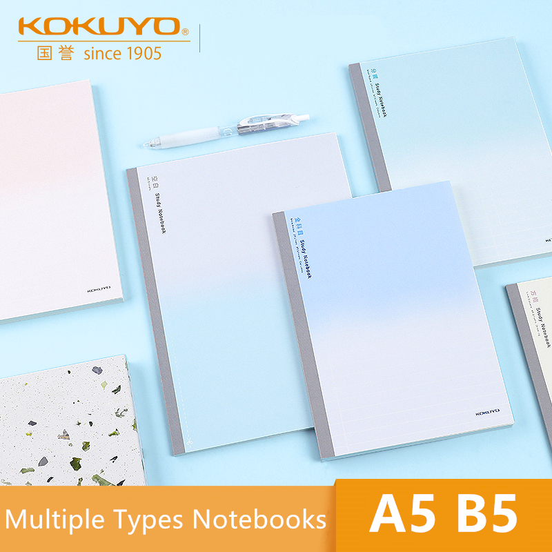 KOKUYO All Subject Study Notebook Campus WCN-DNA58 A5 B5 Simple Design Memo Column Blank 5/9mm Square Music English Books