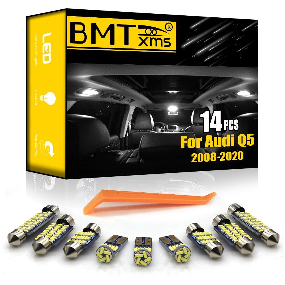 BMTxms 14 шт. Canbus без ошибок автомобильная светодиодная купольная внутренняя Магистральная Комплект ламп для Audi Q5 8RB 2008-2019 автомобильные аксесс...