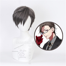DRB Division Rap Battle Hypnosis MIC Rabbit JYUTO IRUMA Short Wig Cosplay Costume Men Heat Resistant Synthetic Hair Wigs 6pcs lot hypnosismic division rap battle drb original japanese anime figure rubber silicone mobile phone charms key chain strap