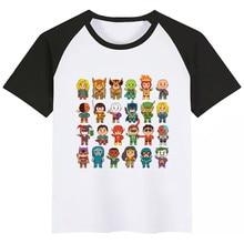 BoysGirls Little Super Heroes Cartoon Print T Shirt Kids Funny Super Heroes Clothes Children Summer Short Sleeve Baby T-shirt майка борцовка print bar dota heroes weaver