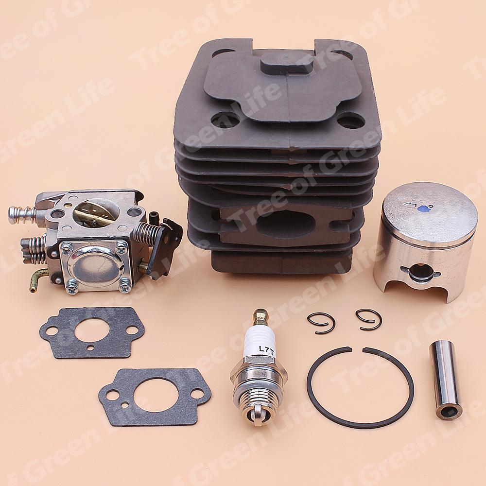 Tools : 39mm Cylinder Piston Carburetor Kit For Chinese Chainsaw 3800 38cc Spark Plug Gasket Replace Part