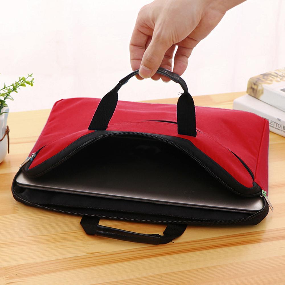 Unisex Portable Durable Large Capacity Oxford Cloth Zipper Document Bag Office Practical Zipper Closure Storage Pouch
