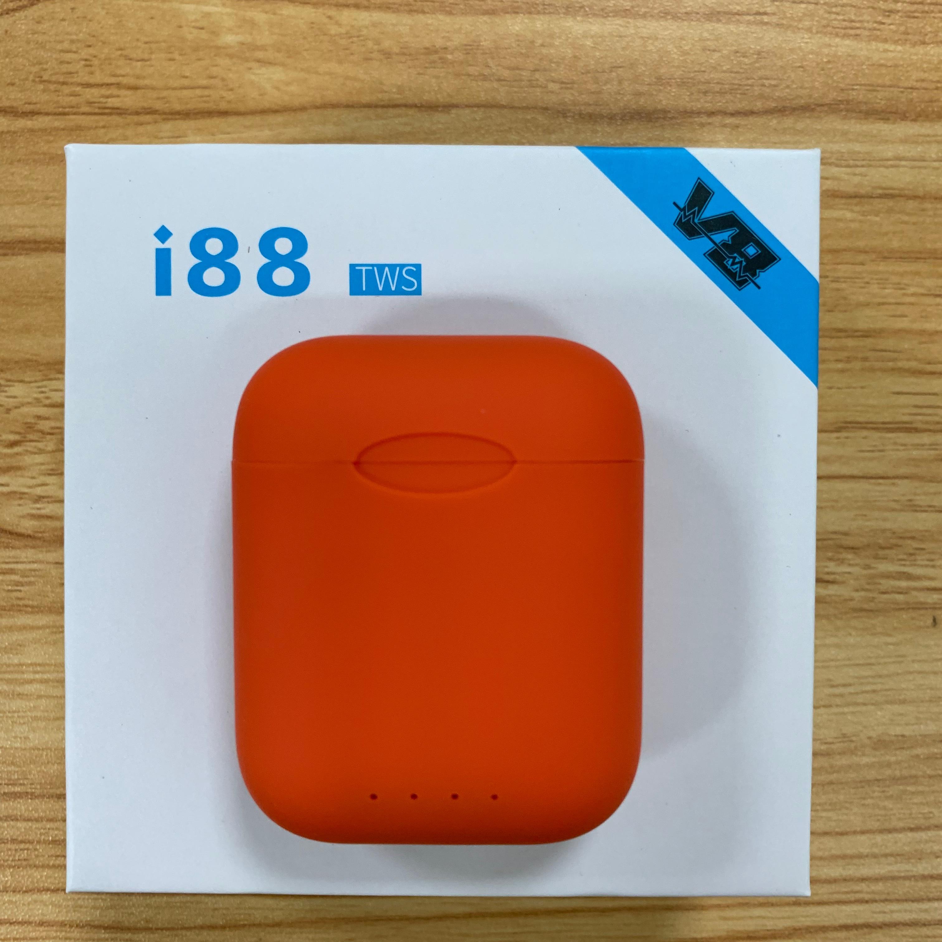 Original i88 TWS Bluetooth5.0 Sweatproof Fone de Ouvido Fone De Ouvido Sem Fio Toque i80 Portátil para Android xiaomi Iphone i20 i30 PK i60