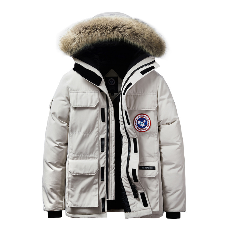 High Quality -40Celsius Down Jacket Keep Warm Men's Winter Thick Snow Parka Overcoat 8XL White Camouflage Fur Hooded Jackets