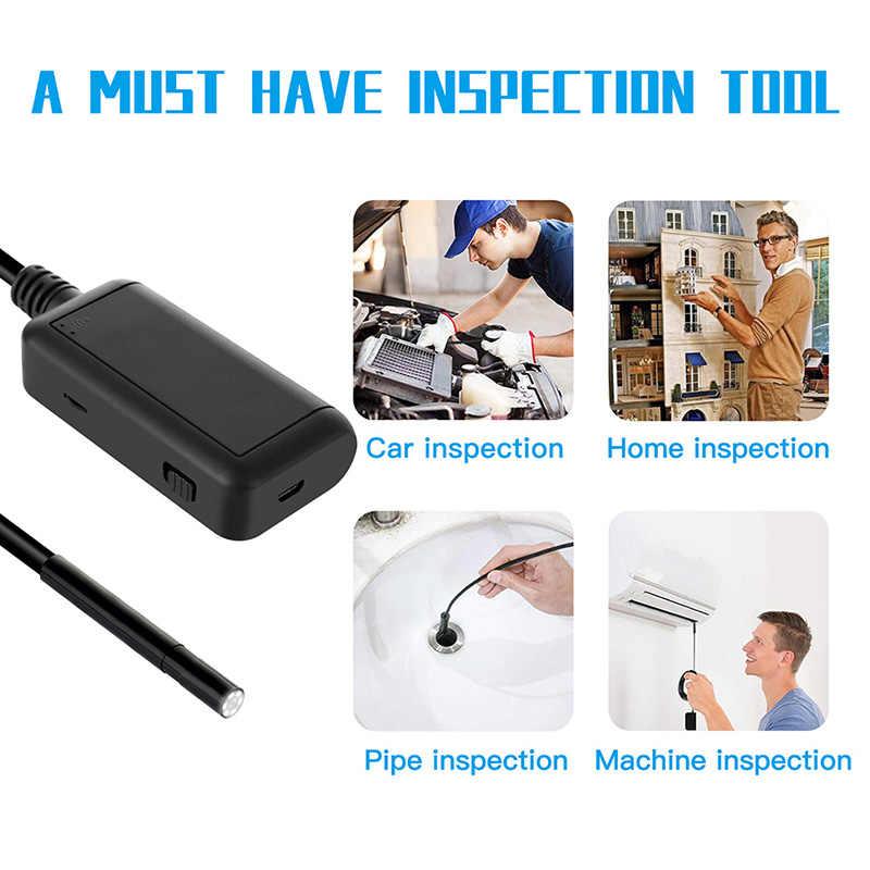 5.5mm kamera inspekcyjna 5.0MP boroskop bezprzewodowy WiFi wąż aparat z 6 LED dla iPhone, Samsung, tablet z androidem