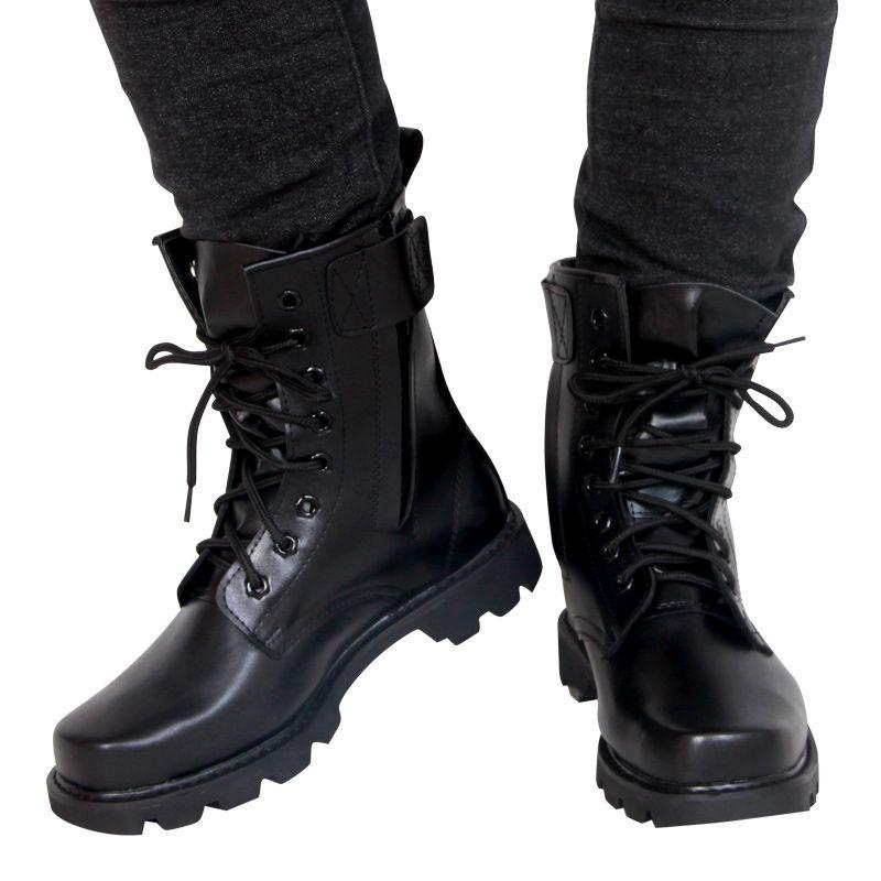 Idopy/мужские ботинки из искусственной кожи; Мужская обувь на плоской подошве; Модная водонепроницаемая военная тактическая обувь