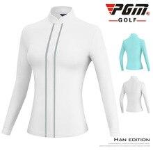 Coat Jacket Golf-Clothing Women Windbreaker PGM Stand-Collar Long-Sleeve Sports Full-Zipper