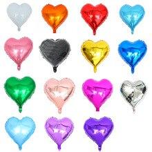 1 шт. и вырезом в форме сердца на Globos металлик Цвет 18 дюймов Infatable Фольга воздушные шары для вечерние Свадебные украшения Suppply