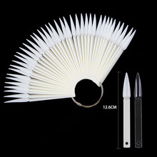 Nail tip shape fan-shaped color cassette ring 40 natural transparent black three optional