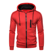 Hoodie Men Coat Zipper Sweatshirts Long Sleeve One Piece Hoodies Jacket Male Casual Sportwear Tracksuit Plus Size M-3XL 2020 New new 2019 men 3d hoodies pineapple vegetable fruit men zipper hoodie washed casual men sweatshirts long sleeve pineapple hoodies